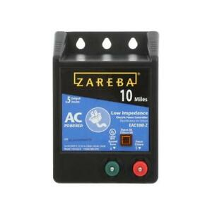 New Zareba 10 Mile Battery Powered Solid State Fence Controller Black