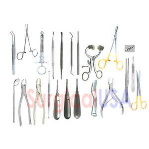 Kit Of 122 Dental Extraction Instruments Dentist Forceps Elevators Explorers