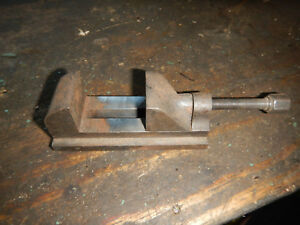 Vintage Small Drill Press Vise Machinist Jig Fixture Tooling