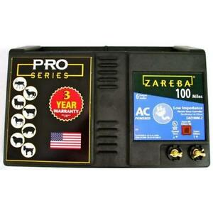 New Zareba Ac Low Impedance Electric Fence Charger Black