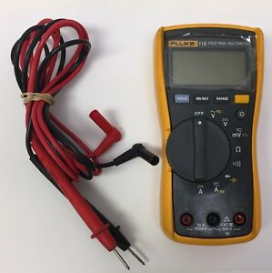 Fluke 115 True Rms Multimeter With Leads Handheld Tool Meter