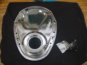 Chrome Sbc Chevy Timing Chain Tab Pointer Cover 350 383 283 327 Rat Hot Rod