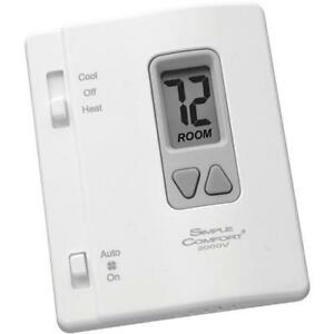 Vertical Non programmable Simplecomfort Thermostat 1 Heat 1 Cool 1 Heat Pump