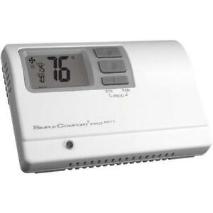 Simplecomfort Pro Series Programmable Thermostat 1 Heat 1 Cool 1 Heat Pump