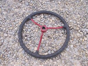 Farmall Cub A B Rowcrop Tractor Original Ih Ihc Repainted Spoke Steering Wheel