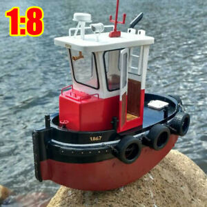 1 18 Rc Tugboat Rescue Simulation Abs Wooden Boat Model Ship Diy Kit Kids Gift