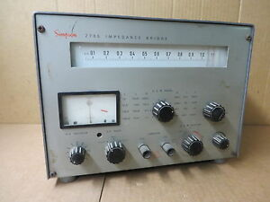Simpson Impedance Bridge 2785 Vintage Electronic Test Equipment
