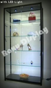 Tower Black Showcase Display Store Fixture Assembled With Led Lights sc tw40bk