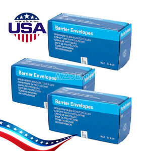 Usa 300pcs box Dental X ray Scanx Barrier Envelopes For Phosphor Plate 33 44mm