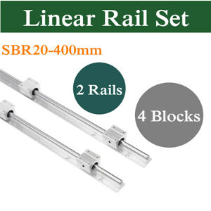 20mm Sbr20 400mm Linear Bearing Rail Fully Supported 4x Sbr20uu Bearing Cnc
