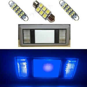 2 Map 1 Dome Blue Led Interior Lights For 1988 1998 Chevy Silverado Gmc Sierra