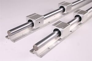 Sbr25 1200mm Linear Rail Fully Supported Guide Way 4x Sbr25uu Bearing For Cnc