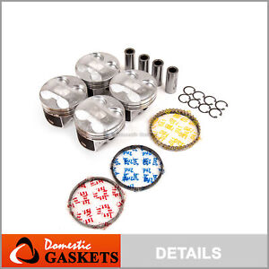 Pistons And Rings Set Fit 02 06 Acura Rsx Type s 06 11 Honda Civic 2 0l K20z3