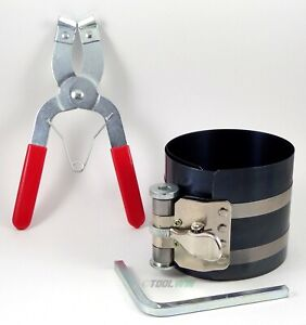 2pc Ratchet Style Piston Ring Compressor And Piston Ring Installer Pliers