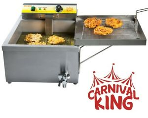 Electric Funnel Cakes Deep Fryer Donut Elephant Ear 240v Concession Commercial