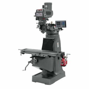 Jet 690408 Jtm 4vs Mill 3 axis Acu rite Vue Dro knee With X axis Powerfeed