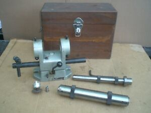 Phase Ii End Mill Grinding Fixture With 2 Mandrels And Wood Case