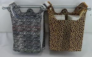 Design T shirt Bags Leopard Or Zebra Print 11 5 X6x21 Shopping Bags With Handles