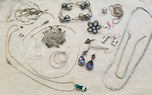 925 Sterling Silver Italy Omega Scrap Wear Lot Jewelry 100 Grams Vintage
