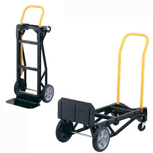 Best Hand Truck Large Moving Cart Travel Steps Appliance Dolly Foldable 400 Lb