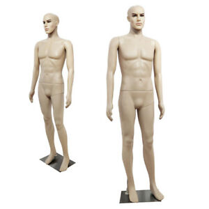 Male Full Body Realistic Mannequin Display Head Turns Dress Form 183cm