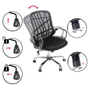 Adjustable Ergonomic Mid Back Mesh Office Home Computer Task Swivel Chair Black