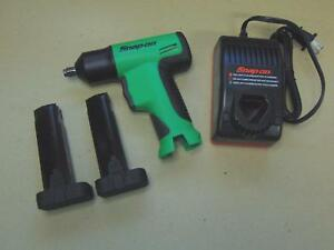 New Snap On Tools 3 8 Cordless Impact Wrench Gun Charger Batteries Free Shipping