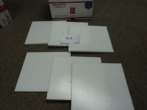 Cnc Mill Assorted Plastic White Delrin Acetal Block And Sheet Lot 6 Pcs 807