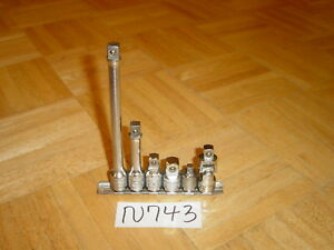 Snap On Tools 6 Piece 3 8 Drive Adaptor Universal Extension Set 206eau