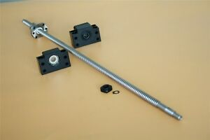 Sfu1204 250mm To1500mm Cnc End Machine With Bk10 bf10 Support Ball Screw