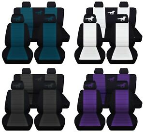Car Seat Covers 2011 2014 Ford Mustang Coupe Running Horse Design 23 Colors Abf