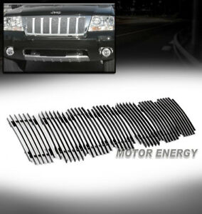 For 99 04 Jeep Grand Cherokee Upper Billet Grille Grill Insert Aluminum Polished