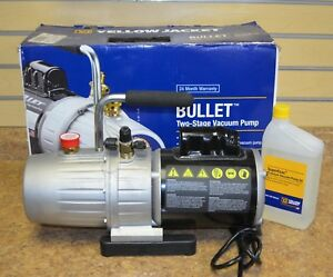 Yellow Jacket 93600 Bullet 7 Cfm 2 Stage Vacuum Pump W Oil Free Shipping New