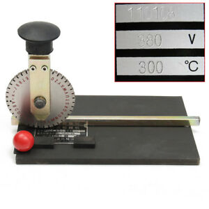 Manual Metal Stamping Embosser Embossing Machine Deboss Plate Dog Tag Printer