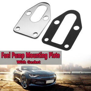 Chrome Fuel Pump Mounting Plate Gasket For Sb Chevy 283 305 327 350 383 400 Sbc