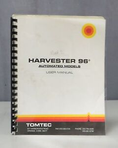 Tomtec Harvester 96 Automated Models User Manual