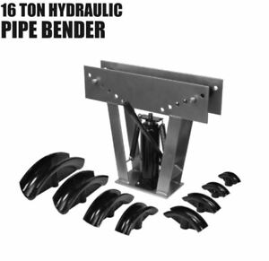 16 Ton Hydraulic Heavy Duty Pipe Bender Handle Tubes pipes Up To 3 Inches