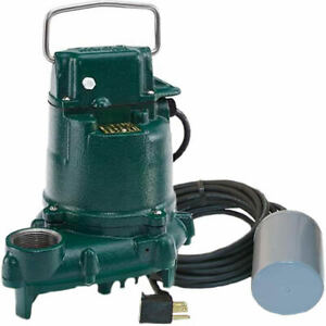 Zoeller Be53 1 3 Hp Cast Iron Submersible Sump Pump W Tether Float 230v