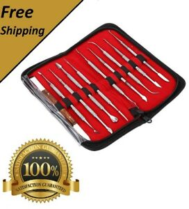 Professional 10 Pcs set Dental Lab Wax Carving Tools Knife Set Surgical Instrume