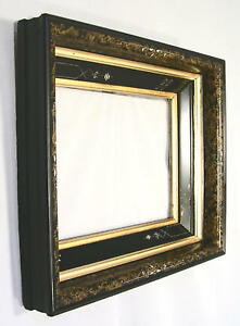 Antique Eastlake Shadowbox Picture Frame Faux W Original Gold Liners 8 X10