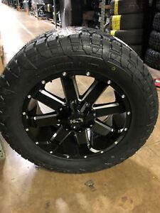 20 Ion 141 Black Wheel 33 Fuel Gripper At Tire Package Ford F150 6x135