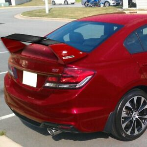 Fit 2012 2015 Civic Sedan 9th Carbon Fiber factory Red Mug Style Trunk Spoiler