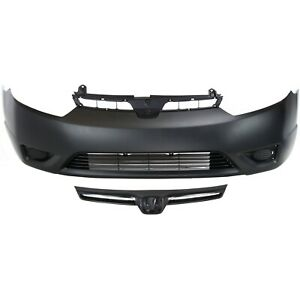 Bumper Cover Kit For 2006 2008 Honda Civic Front 2 Door Coupe 2pc With Grille