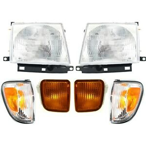 Headlight Kit For 1998 2000 Toyota Tacoma Left And Right 6pc