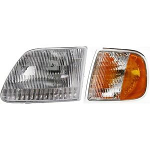 Headlight Kit For 1997 2003 Ford F 150 1997 2002 Ford Expedition Left 2pc