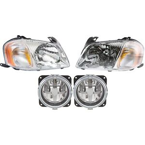 Headlight Kit For 2001 2004 Mazda Tribute Left And Right 4pc