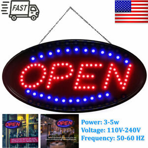 Ultra Bright Large Size Flash Motion 19 x 10 Led Neon Open Business Sign Light