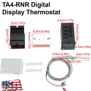Self adjusting Digital Pid Temperature Controller F c Ssr heatsink Probe Alarm
