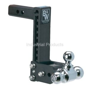 B w Tow Stow Ts10050b Tri Ball Mount 9 Drop 9 1 2 Rise Hitch free Shipping