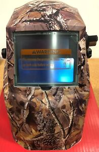 Lincoln Electric K3445 1 Camo Variable Shade 9 13 With Grind Mod Welding Helmet